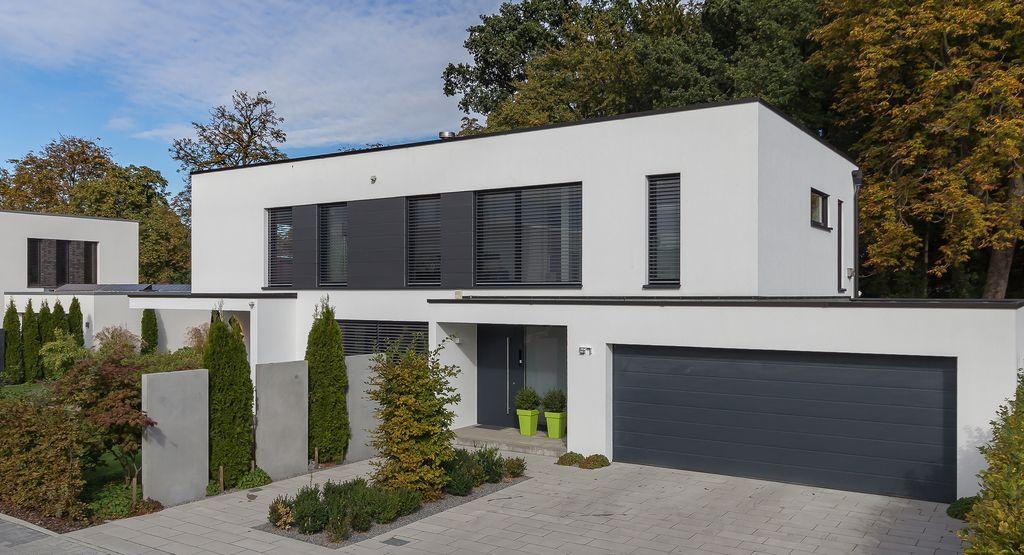 Gütersloh_EFH_Straße Haus bauen, Bauhausstil