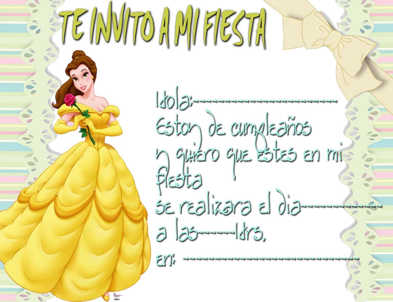 Tarjetas De Cumpleaños De Princesas Para Imprimir 11 En Hd