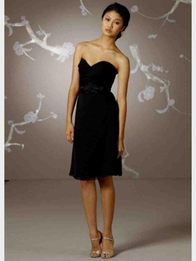 Short Black Bridesmaid Dresses Under 100 | Black Bridesmaid Dresses ...