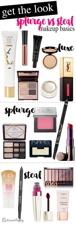 Makeup Basics Splurge vs Steal Products Basic makeup