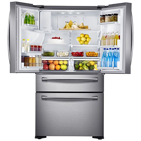 Samsung RF24FSEDBSR 4Door Fridge Freezer, Stainless Steel