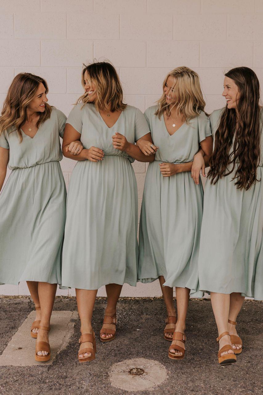 Summer Bridesmaid Dresses | ROOLEE #sagegreendress