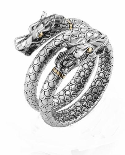 John Hardy Naga Gold & Silver Double Coil Bracelet y5OTQpEQAk