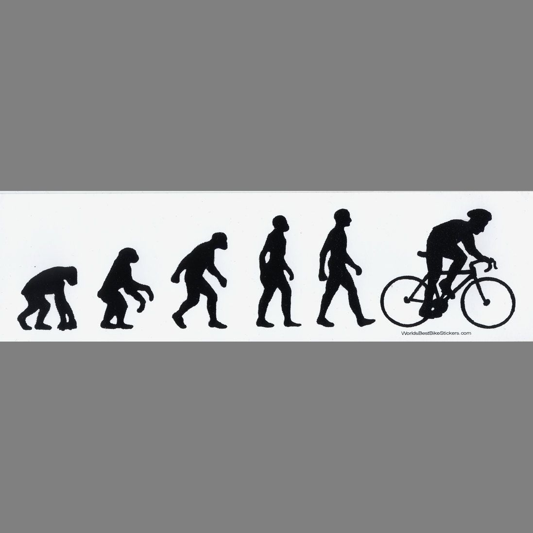 Man bike evolution bumper sticker by bikestickers on etsy 2 49 sticker design bumper stickers