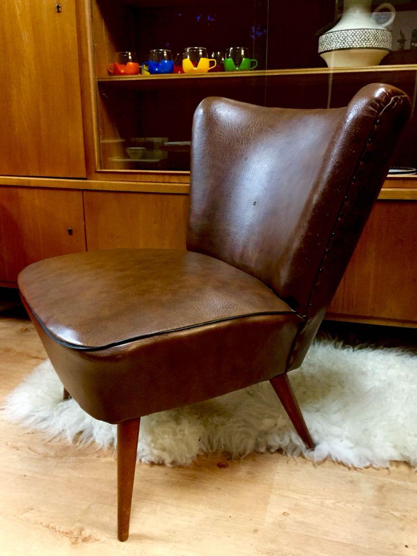 Fifties Cocktailchair Vintage lounge chair Vintage fauteuil