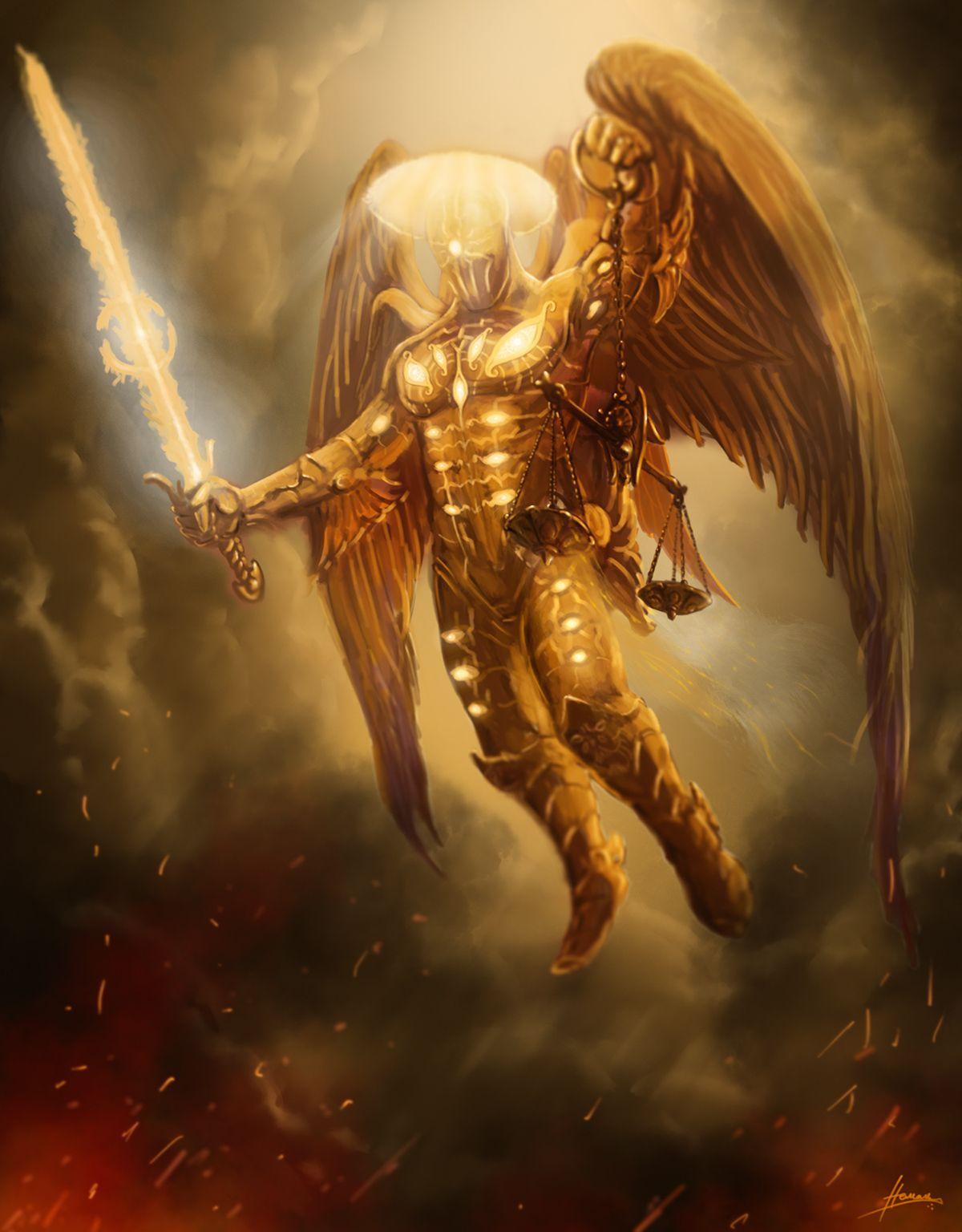 Fallen Justice Of God By Nemanja Bubalo Dark Fantasy Art Archangels Angel Warrior
