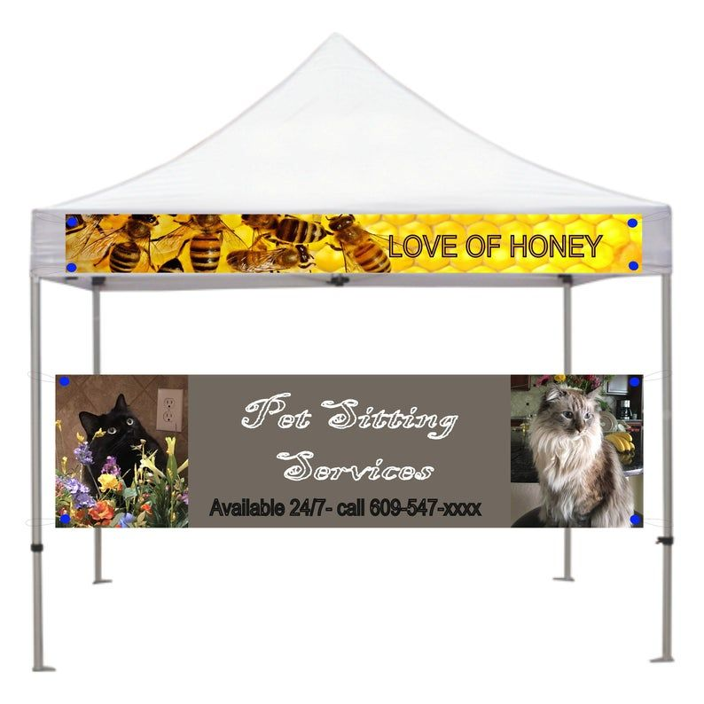 Canopy Banner Tent Banner For 10x10 Ft Canopy 12 Inch By 9 5 Etsy In 2020 Fabric Banner Art And Craft Shows Tent Fabric