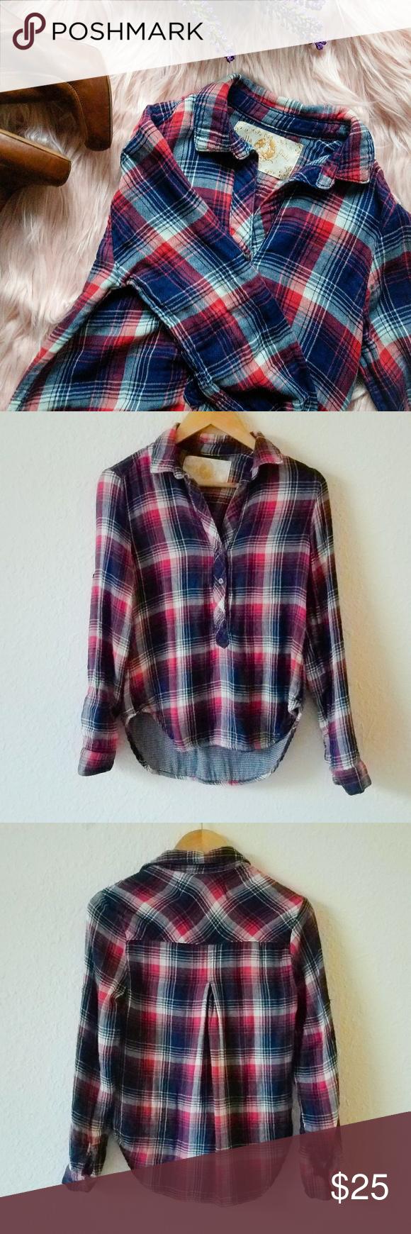 Red flannel 2018  Anthropologie Bella Flannel Plaid Shirt in   My Posh Picks