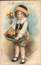 Пасха-маленькая девочка продаю цветы-Эллен CLAPSADDLE c1910 открытка