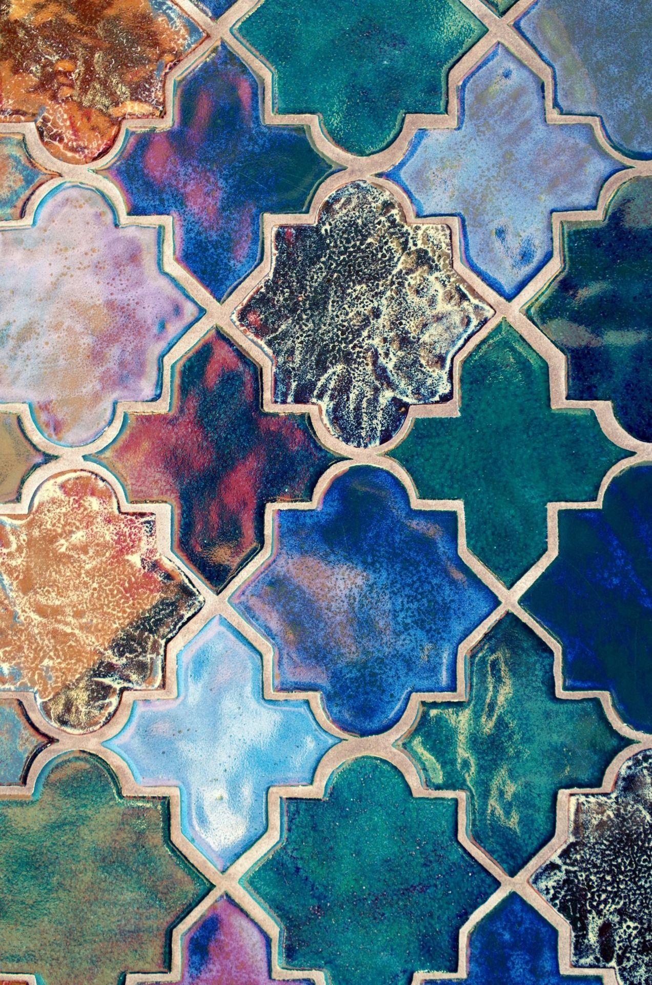 Image Result For Mismatched Colored Tile Retro Home