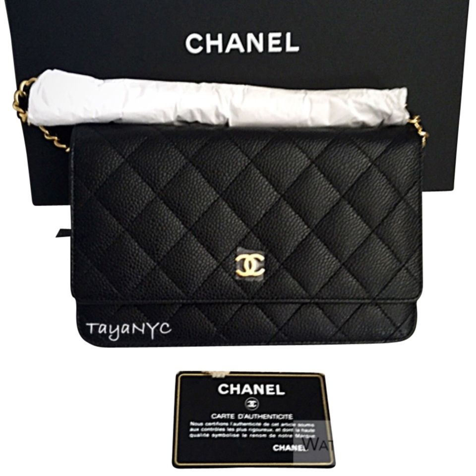 cb36987b96a2 Chanel New Brand New Full Set Woc Wallet On Chain In Caviar W  Gold  Hardware 22 Series Shoulder Bag. Get one of the hottest styles of the  season!