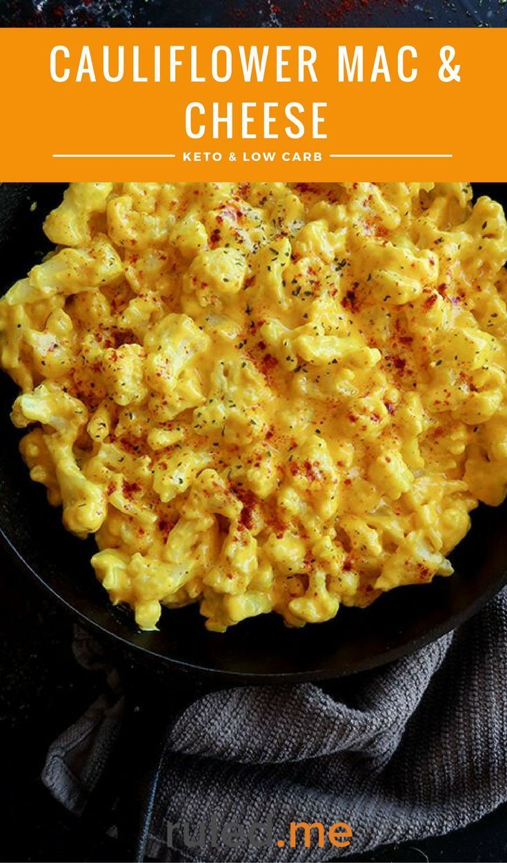 An easy cauliflower mac and cheese recipe for those following a low carb or ketogenic diet. #ketodie...