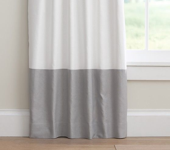 Color Block Blackout Curtain Color Block Curtains Cool Curtains Curtains For Grey Walls