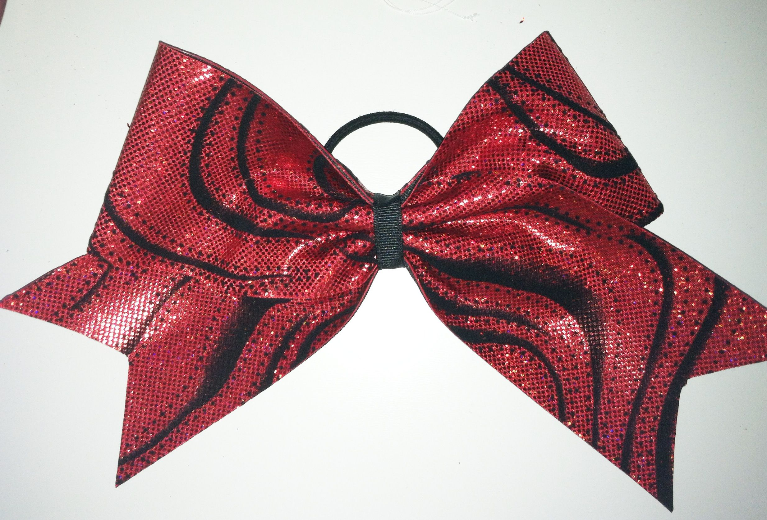 Red sparkle Swirl Bow