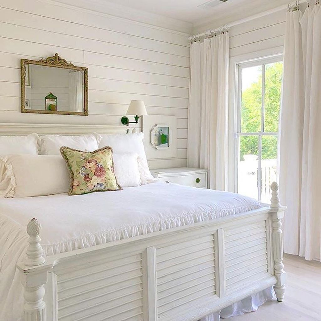 Awesome Cottage Bedroom Decoration Ideas 21 In 2020 French Bedroom Decor Farmhouse Style Bedrooms Bedroom Furniture Design