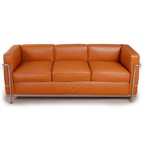 Kardiel Le Corbusier Style LC2 Sofa 3 Seat, Caramel Aniline Leather by  Kardiel, http