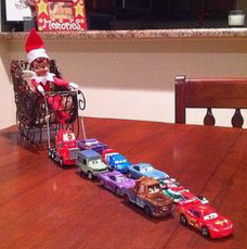 ?Cars Pulling Sleigh