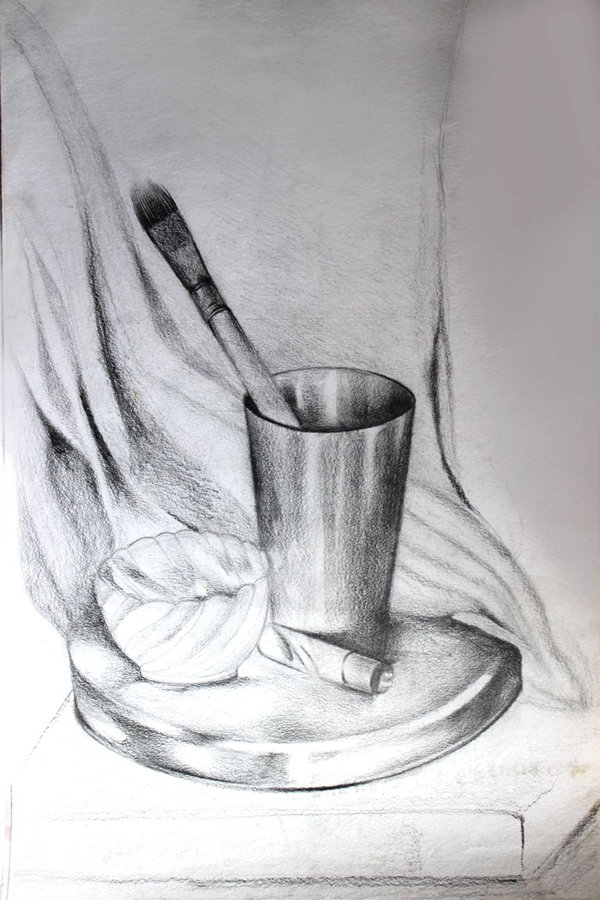Still life painting with pencil ✏️