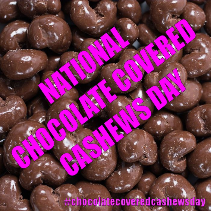 April 21 2015 National Chocolate Covered Cashews Day Chocolate Chocolate Covered Chocolate Cookie
