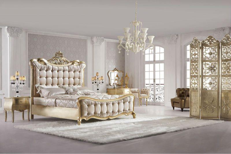 Elegant Luxurious Hand Made Soild Wood Bedroom Furniture Set View
