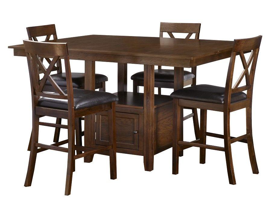 Slumberland Woodwyn Collection Med Oak Counter Dining Set Dining Room Sets Dining Set Kitchen Dining Room