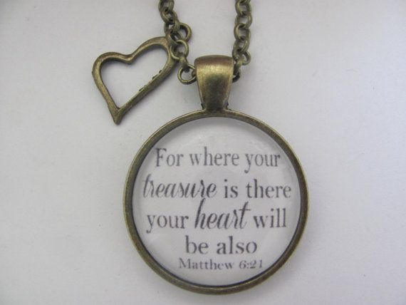 Bible Verse Pendant Necklace For where your by RedeemedJewelry, $14.00