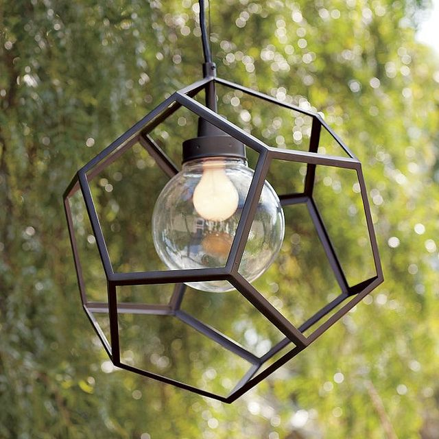 Geometric Exterior Pendant Light Fixture Via West Elm For My