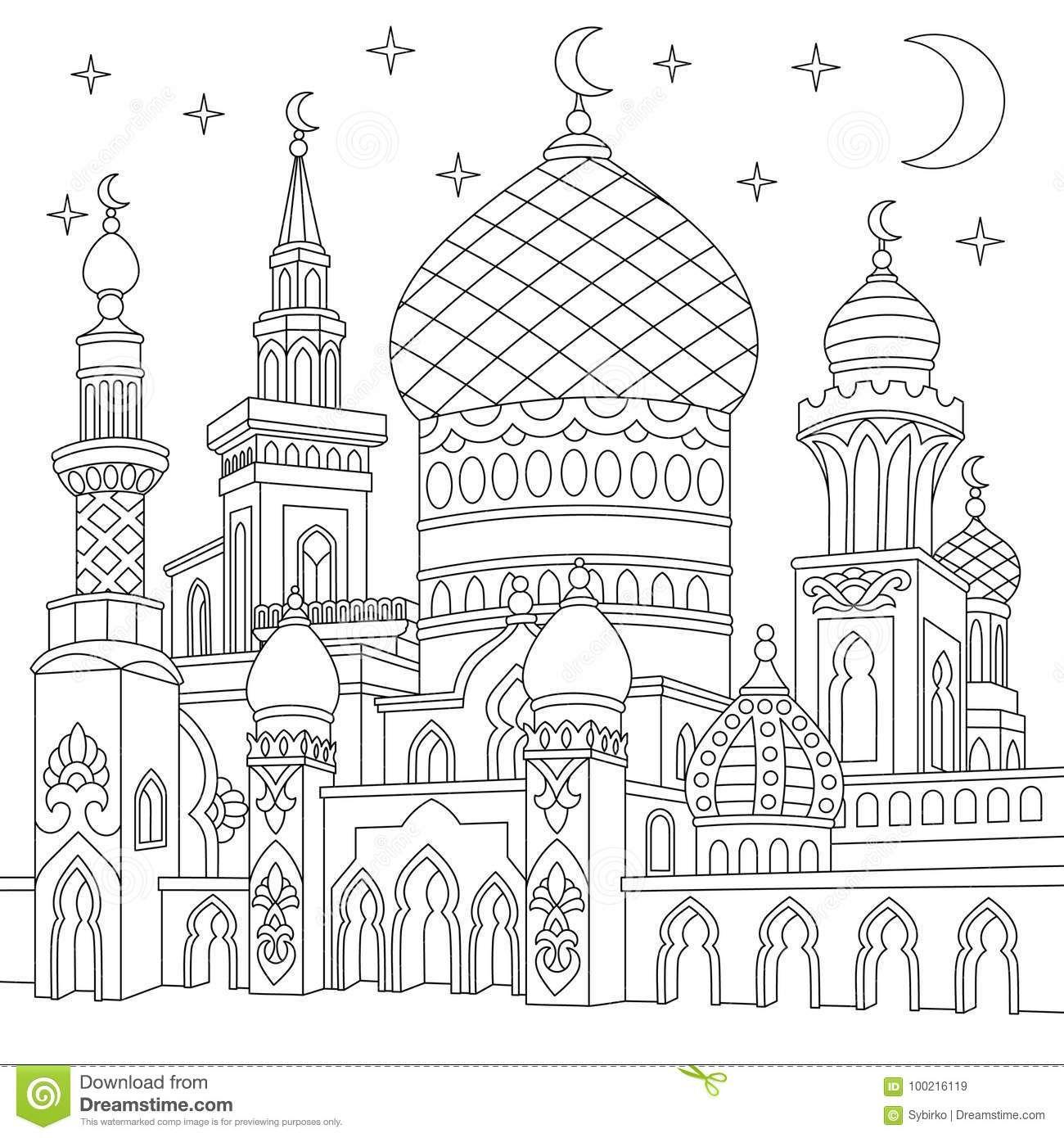 Lomba Mewarnai Gambar Masjid Wwwmiifotoscom