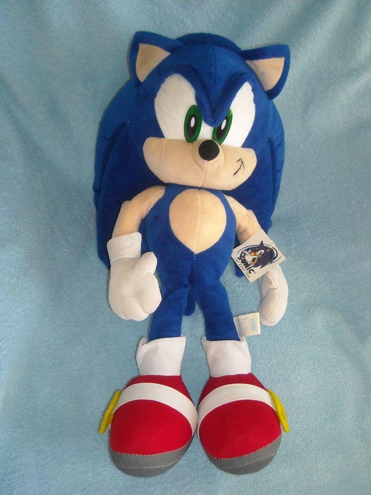 Jumbo Large W Tag 23 Sonic The Hedgehog Sega Stuffed Animal Plush Toy Toynetwork Pet Toys Animal Plush Toys Toy Net