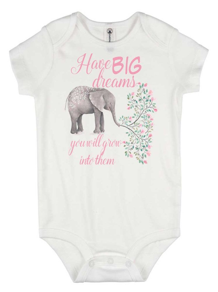 6bf653693481f Dream big little one - Going Home outfit - inspirational baby shirt - baby  shower gift - baby elephant - pretty baby onesie - custom baby -