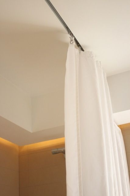 RECESSED CURTAIN TRACK  Google Search  Drapery  Curtains Bathroom curtains Ceiling curtains