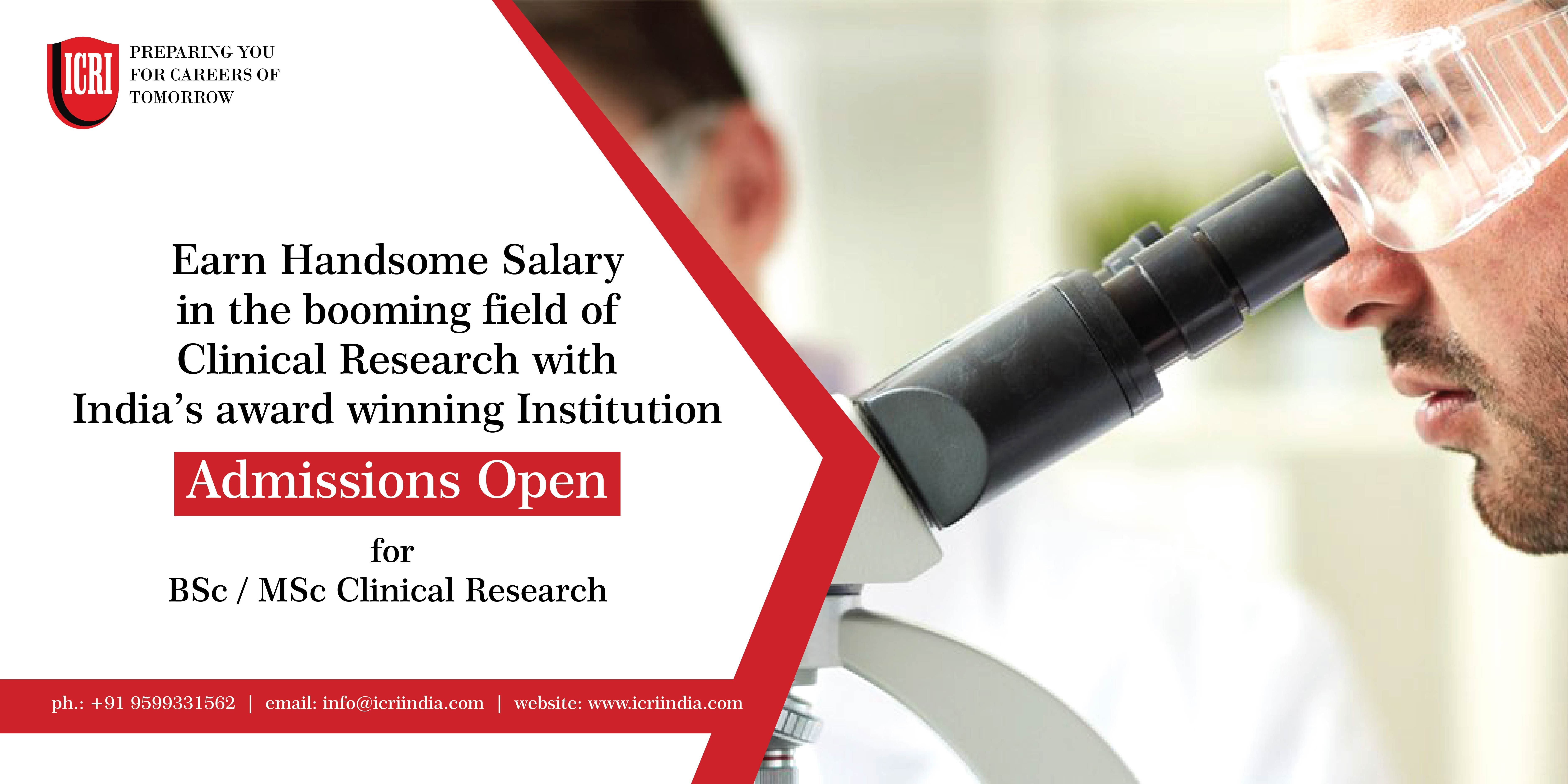 Clinical Research Icri For Admissions Http Icriindia Com