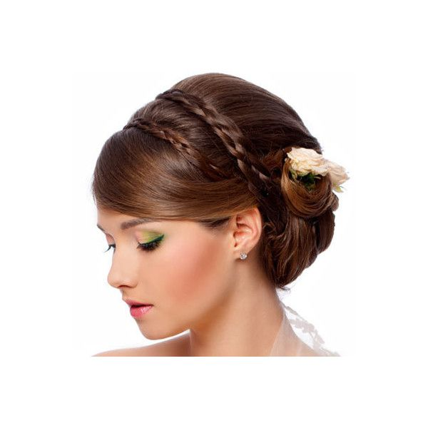 Braided Updos Latest Updo Hairstyles For Wedding Found On Polyvore