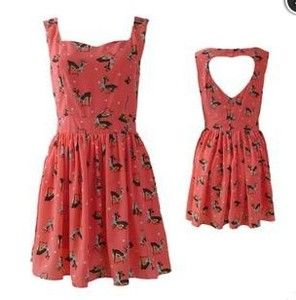 Price:$34.00 - On Sale See more at http://lulula.bigcartel.com/product/hollow-out-heart-deer-around-dress  Hollow out Heart deer around Dress