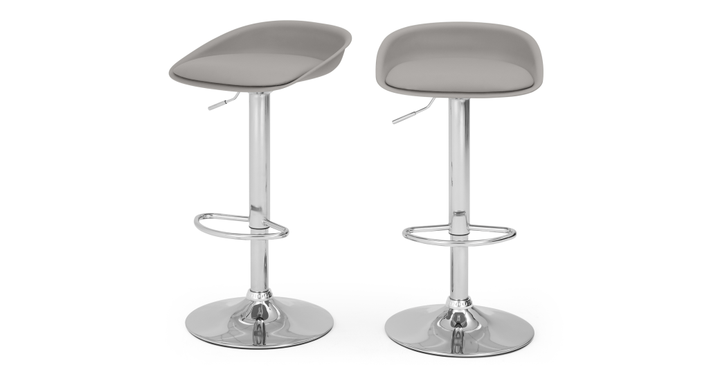 2 X Kudo Hohenverstellbare Barhocker Grau Hocker Barhocker Stuhle Made Com Barhocker Hohenverstellbar Barhocker Hocker