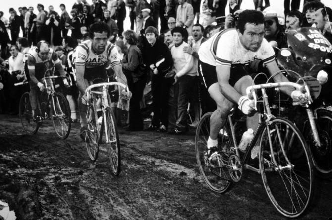 Bernard Hinault brings the hurt during the 1980 Paris-Roubaix
