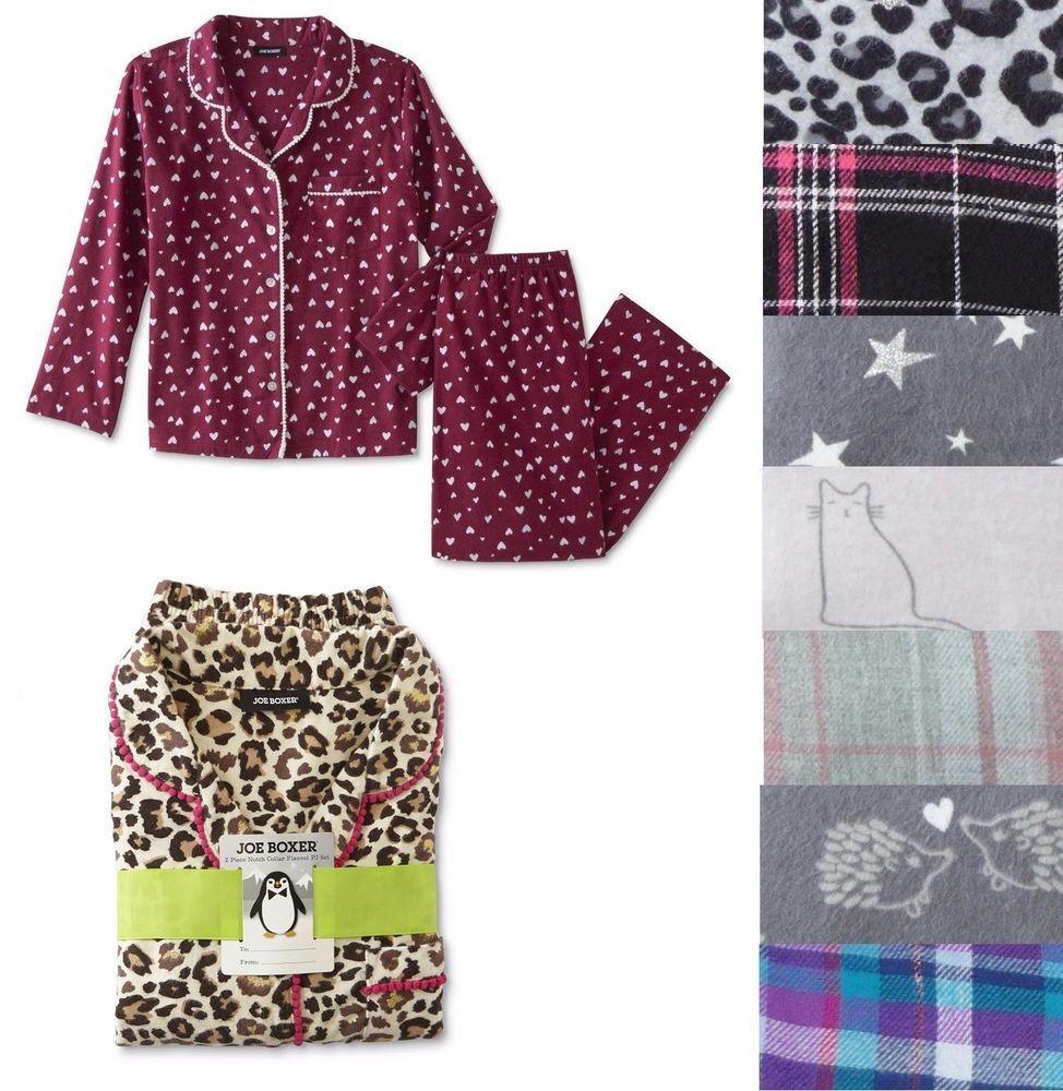 Joe Boxer Womens Flannel Pajama Shirt Pants 2 pc Set size S M L NEW https   f26705c54
