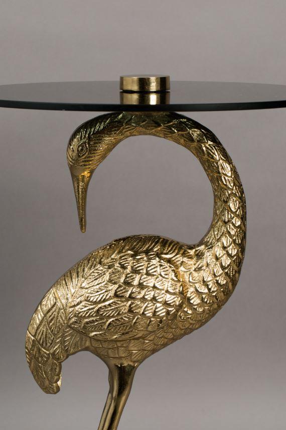 Beistelltisch Crane Kranich Flamingo Gold Wohnzimmertisch Tisch Couchtisch Flamingo Royale Beistelltisch Beistelltisch Metall Flamingo