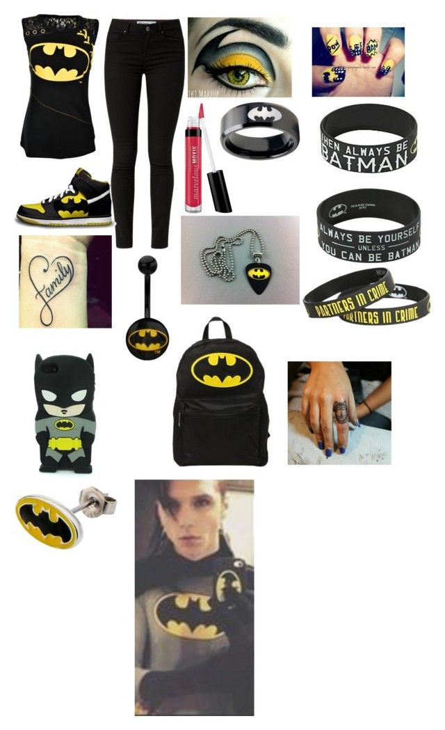 """""""Taking a selfie with Andy Biersack"""" by emo-girl23 ❤ liked on Polyvore featuring NIKE and Bare Escentuals"""