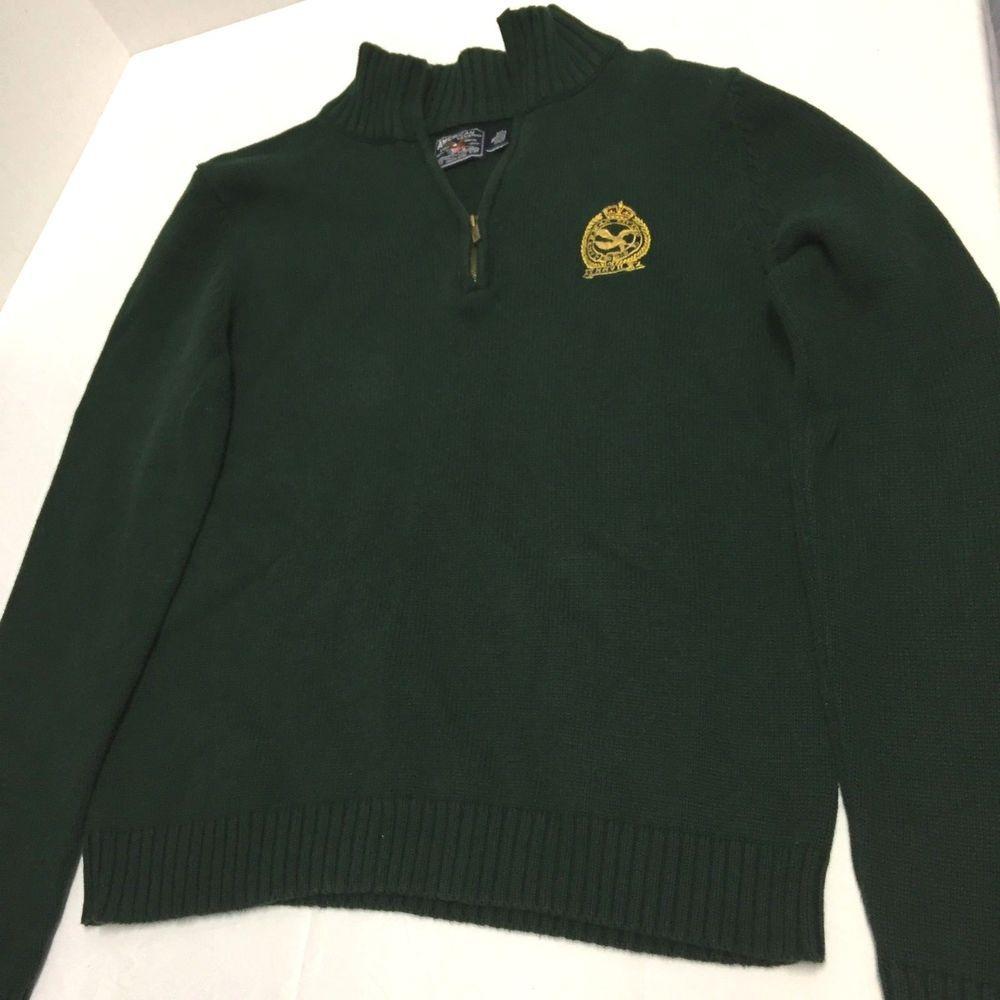 American Living Sweater Womens Size XL Green Quarter Zip Long Sleeve  Turtleneck AmericanLiving 14ZipLongSleeveHighCollar