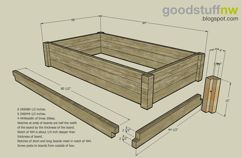 Bon For Mom   Raised Garden Bed Building Plans