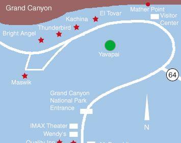 Grand Canyon Hotel Yavapai Lodge Grand Canyon Motel com road