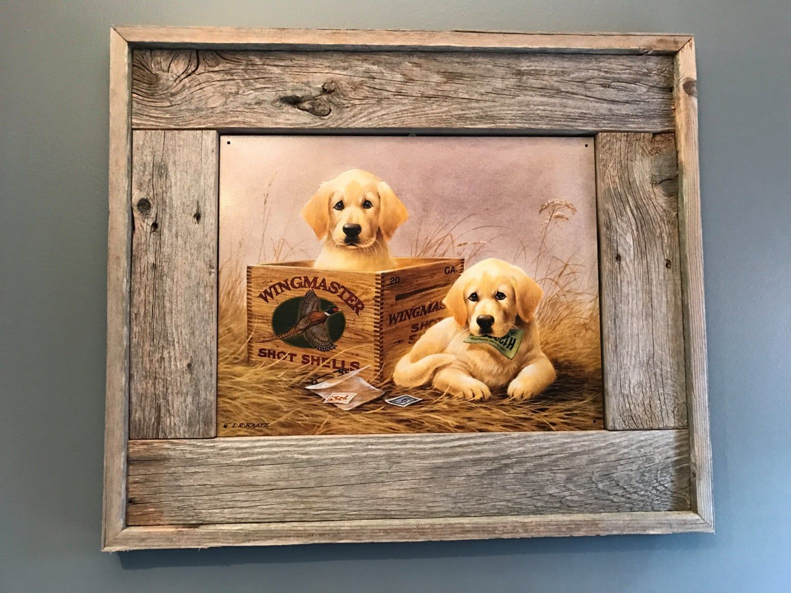 2 Dogs Woodworking Picture Frame