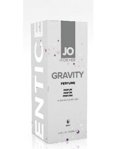 Gravity Perfume with Pheromones for Her from System JO is infused with sexually magnetic pheromones that will enhance your most alluring qualities. Click to buy now!
