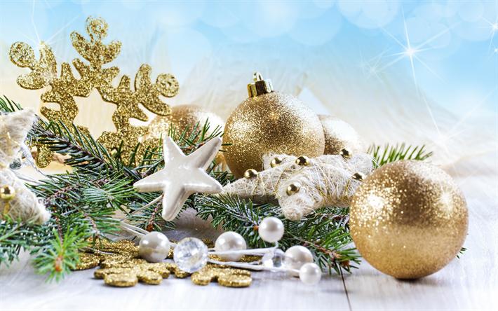Hintergrundbilder Frohe Weihnachten.Herunterladen Hintergrundbild Weihnachten Dekorationen 4k