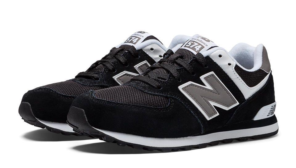 new balance 574 black and grey