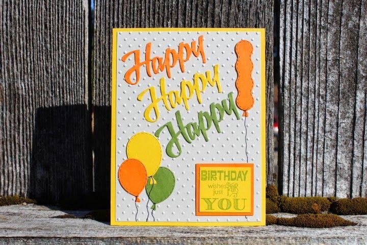 Designs by Dragonfly: Birthday Card ~ Happy Happy Happy