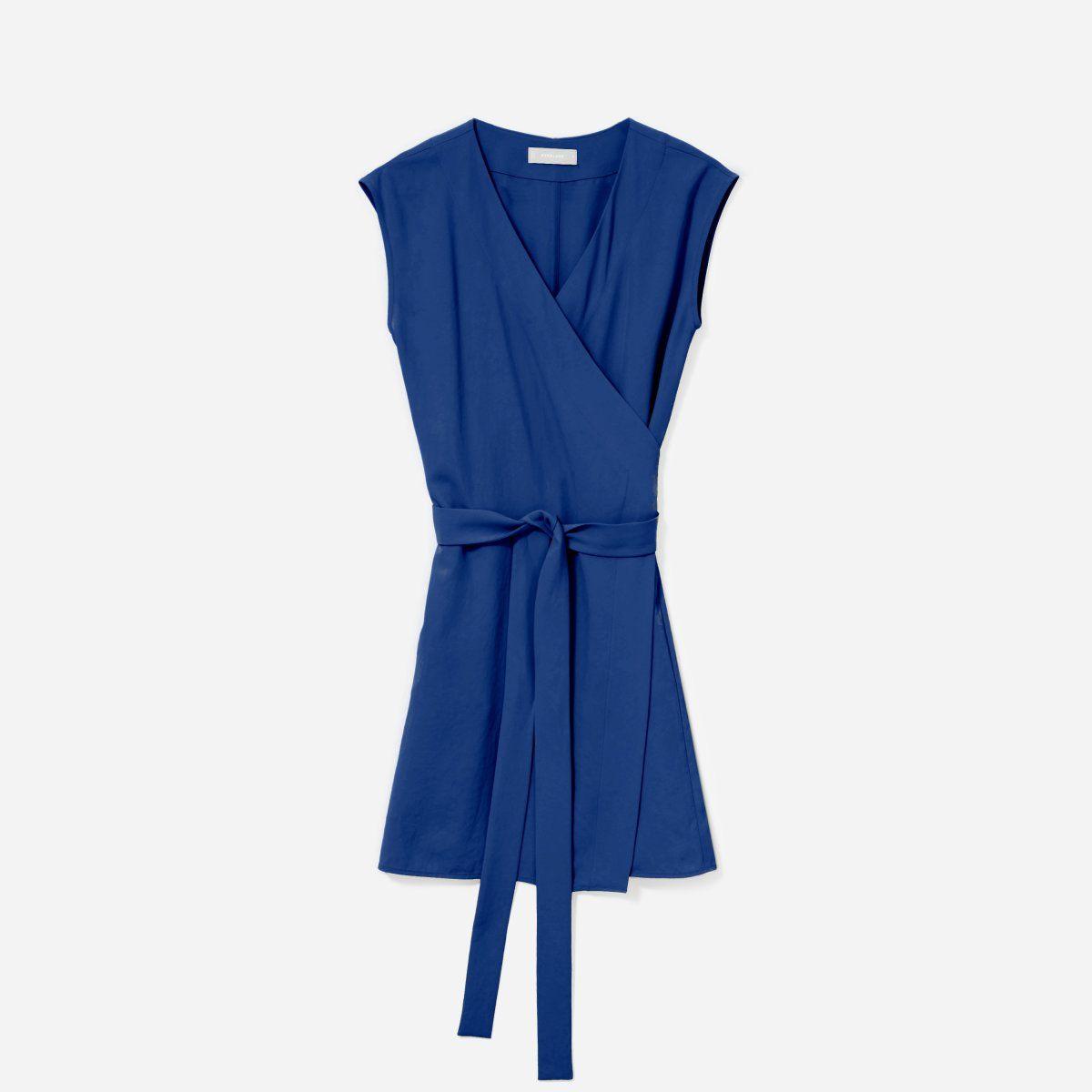 Women S Japanese Goweave Short Sleeve Mini Wrap Dress Everlane Jumpsuit Fashion Mini Wrap Dress Black Wrap Dress [ 1200 x 1200 Pixel ]