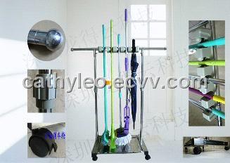 (LDY0502A)Manufacturer Price $25/SET 5 Slots stainless steel mop holder, broom holder & tool holder (8615626521665) - Tool Holder mop hol...