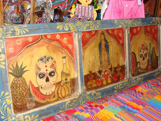 Day of the Dead Retabolos - Folk Art - LaMariposa Mexican Imports ...